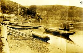 Canoes in Fishing Bay, Nass River, BC