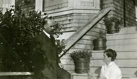 Bertha and W.E. Collison at their home in Prince Rupert, BC
