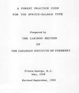 A Forest Practice Code for the Spruce-Balsam Type