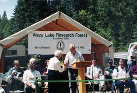 Aleza Lake Research Forest Re-Opening Ceremony - July 9, 1992