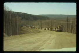 A Road in Tumbler Ridge - Construction Vehicles