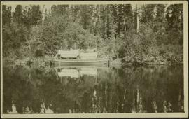 Canoe at Forestry Camp on River