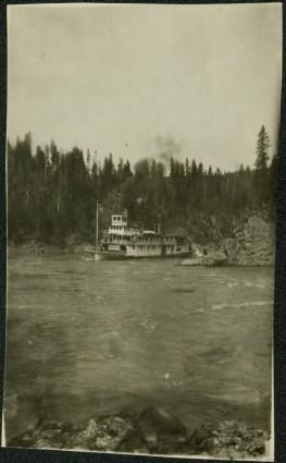B.C. Express Paddlewheeler in Fort George Canyon, BC
