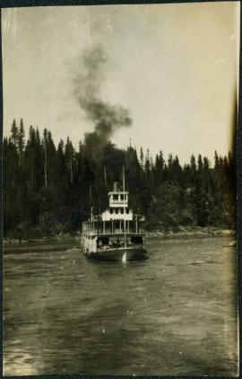 B.C. Express Paddlewheeler in Distress in Fort George Canyon, BC