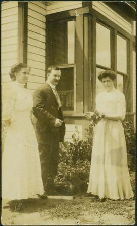 Unknown Family in Front Yard