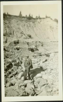 Unknown Man Standing in Rocks