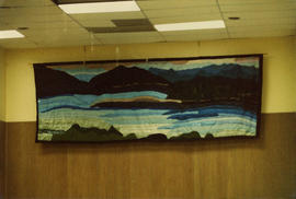 "Queen Charlotte City community hall tapestry ""Natures Panorama"""