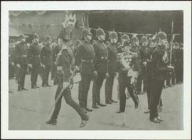 King George V inspecting members of the Royal Irish Constabularly