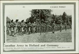 Canadian Army reading a lesson at a victory service near Enschede, Holland