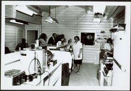 1965 - Hilde Voss behind Snackbar Counter