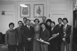 Group portrait of Iona Campagnolo, Chinese delegates, and others