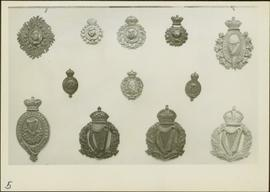 Close-up of Royal Irish Constabulary badges from the James Joseph Claxton Collection