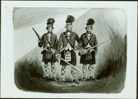 "Photograph of artwork: ""The 42nd (Royal Highland) Regiment of Foot, 1782"""