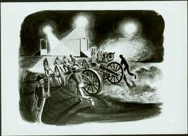 "Photograph of artwork: ""Naval Gun Race, 1812"""