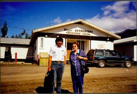 Moran & Unknown Man at Nisga'a Government Administration Building