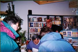 Justa Monk Autographing at Mosquito Books, Prince George, BC