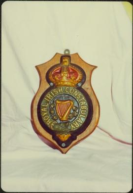 Royal Irish Constabulary wall plaque