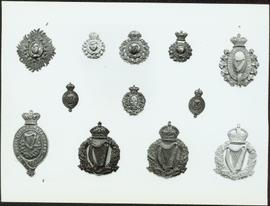 Closeup of Royal Irish Constabulary badges
