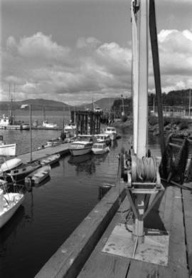 Boats and hoist in Prince Rupert marina
