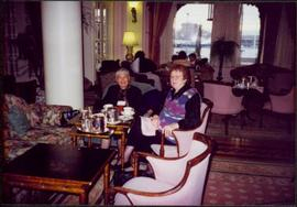 Bridget Moran & Mary John Having Tea at the Empress Hotel in Victoria, BC