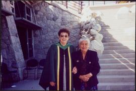 Bridget Moran & Mary John Standing in UNBC Courtyard