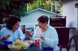 Maureen Faulkner & Unknown Woman at Celebratory Barbeque after UNBC Convocation Ceremony