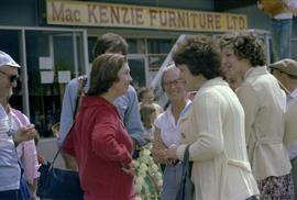 Iona Campagnolo talking to constituents in front of MacKenzie Furniture store after the Kitimat C...