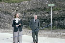 Iona Campagnolo and Joe Scott at Scott Road Highway opening in Prince Rupert