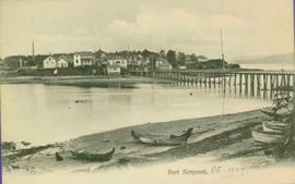 Canoes and Pier at Port Simpson, BC