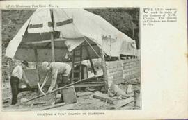 Construction of Tent Church in Caledonia