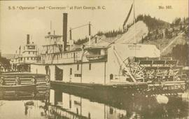 """S.S. Operator"" & ""Conveyor"" at Fort George, BC"