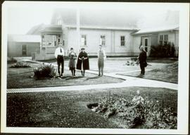 Group at Government Agency Building in South Fort George, BC