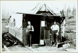 Two Men at the First Newspaper Office in South Fort George, BC