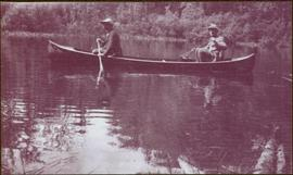 Taku River Survey - Two Men in Canoe