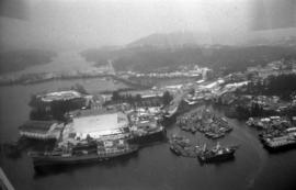 Aerial view of Prince Rupert harbour