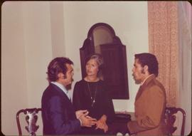 Ministry of Sport Tour - Minister Iona Campagnolo, Jorge Garcia Bango, and an unidentified transl...