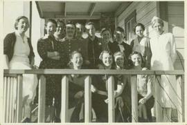 Group photo of the entire non-aboriginal female population in Port Simpson