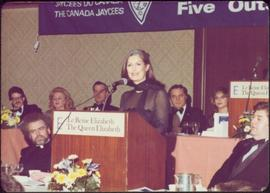 Minister Iona Campagnolo gives speech at The Canada Jaycees' Five Outstanding Young Canadians Eve...