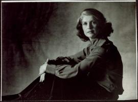 CBC Publicity Photos - Iona Campagnolo with hands folded on her knees