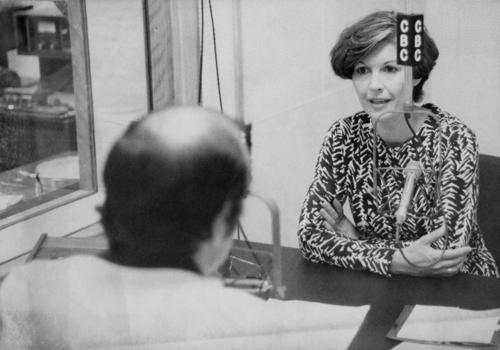 Iona Campagnolo at interview for CBC radio