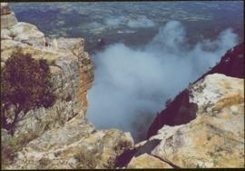 CUSO Mission in Angola - Cliffs above unknown community, clouds below