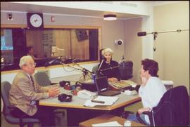 Chancellor's Tour - The Honourable Iona Campagnolo and Dr. Charles Jago during a radio interview ...