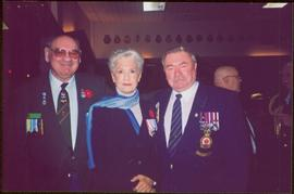 Tom Green, Lieutenant Governor Iona Campagnolo, and Ken Irvine at the Canadian Association of Vet...