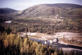 Aerial view of Clinton Creek townsite