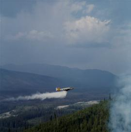 Water bomber plane at Clinton Creek