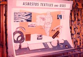 Asbestos textiles and uses display