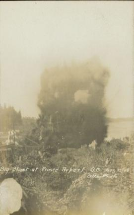 Big blast at Prince Rupert 17 Aug 1908