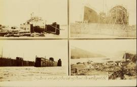 Another collage of four dry dock images