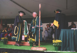 Ray Williston receiving honorary degree from UNBC