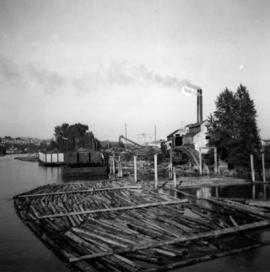 Lumber mill on the Fraser River